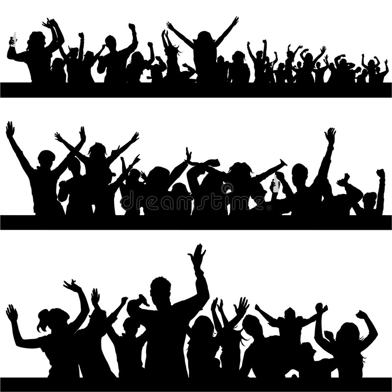 Party peoples vector royalty free illustration