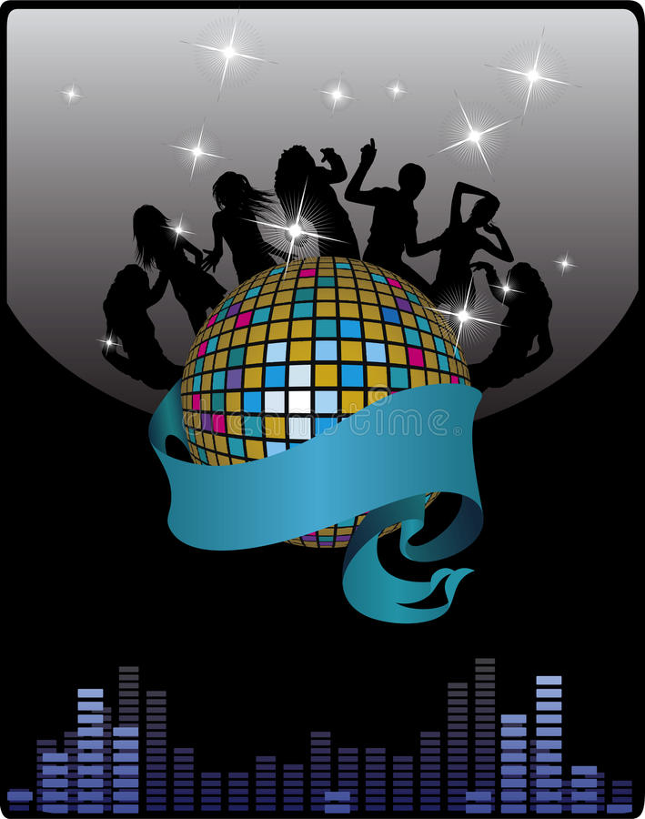Party poster royalty free illustration