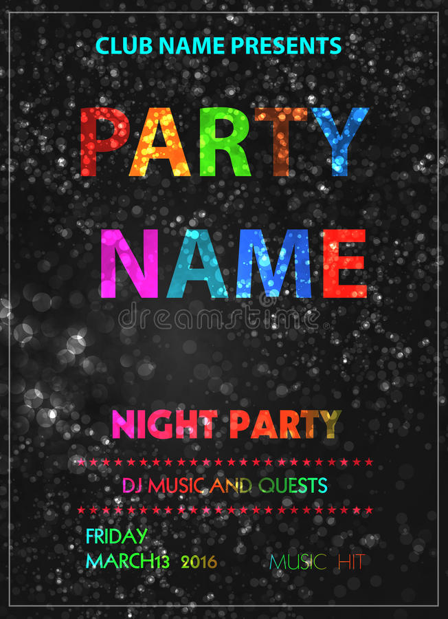 Party poster stock illustration