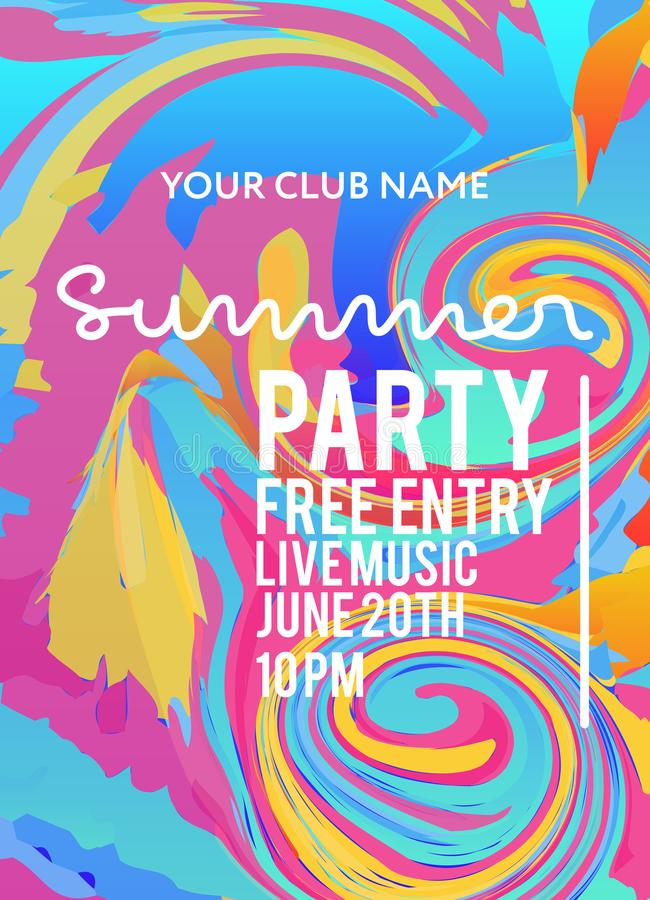 Party poster for night club stock illustration