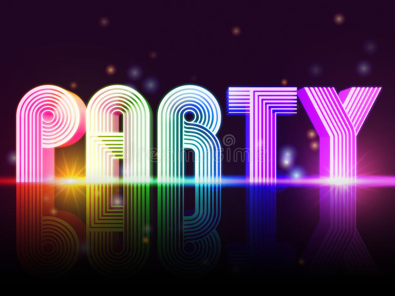 Party poster vector illustration