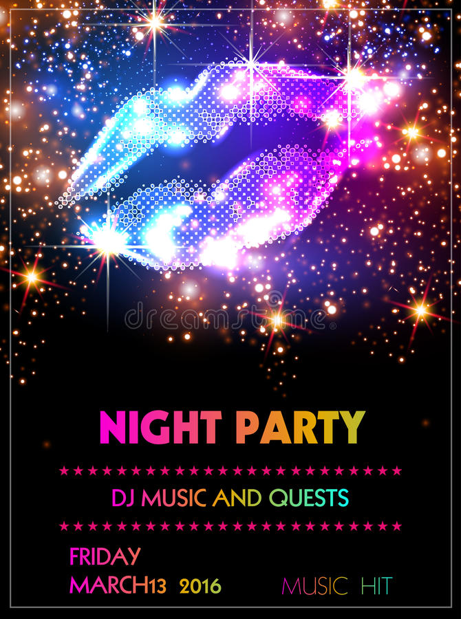 Party poster Template vector illustration