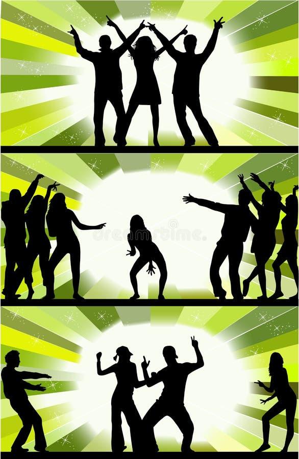 Party povos ilustração royalty free