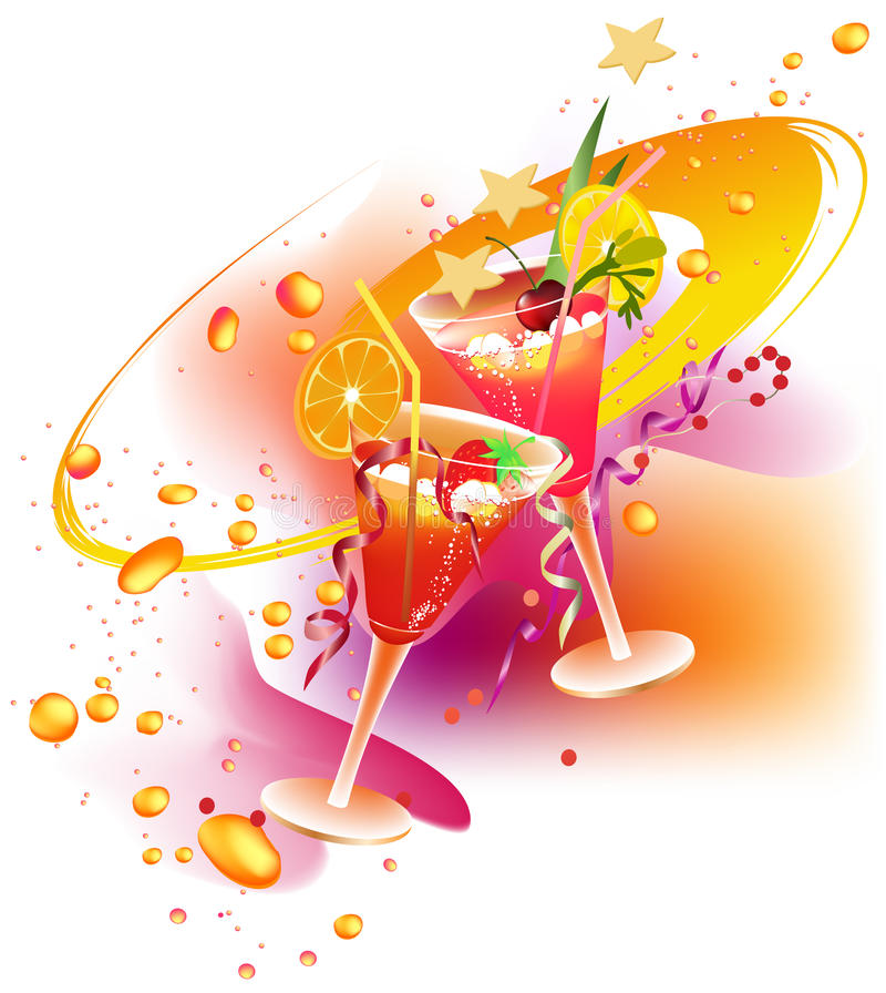 Party's drinks stock photography
