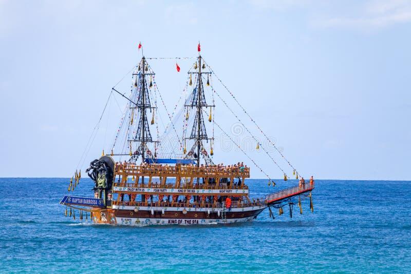 Party sailing ship Kaptan Barbossa royalty free stock photography