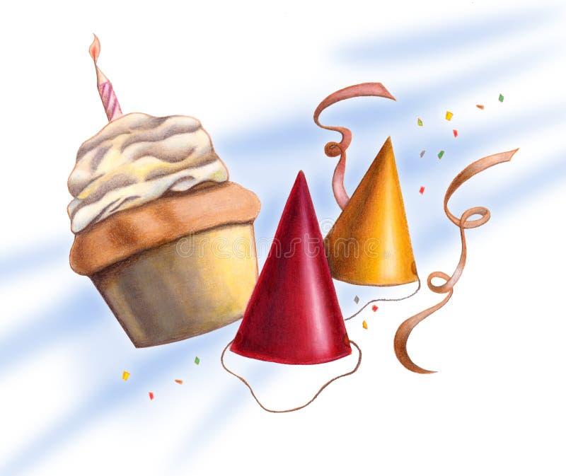 Party scene. Card. Hand drawn illustration vector illustration