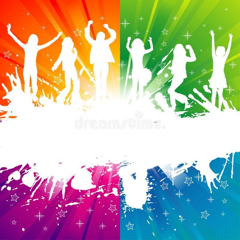 Party-Schablone mit Schattenbild lizenzfreie abbildung