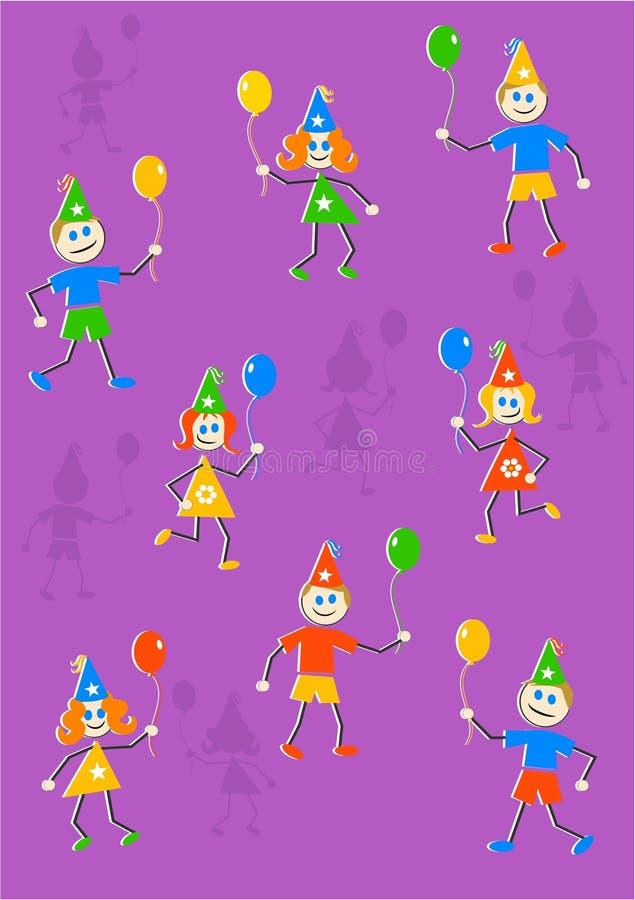 Party scherzt Hintergrund vektor abbildung