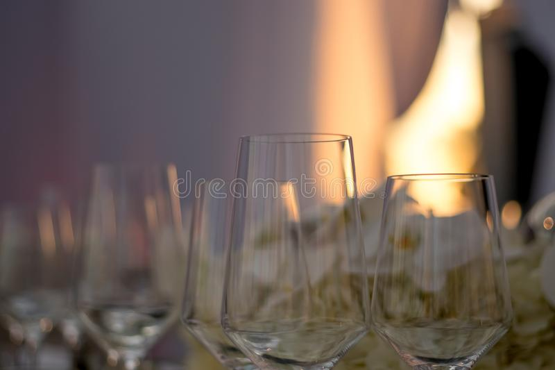 Party Setting with Bokeh Background royalty free stock photography