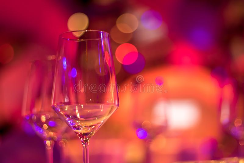 Party Setting with Colorful Bokeh Background royalty free stock photo