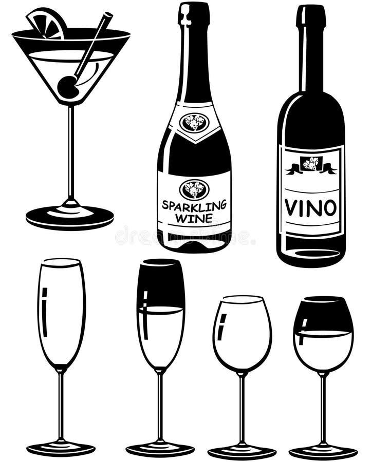 party silhouettes royaltyfri illustrationer