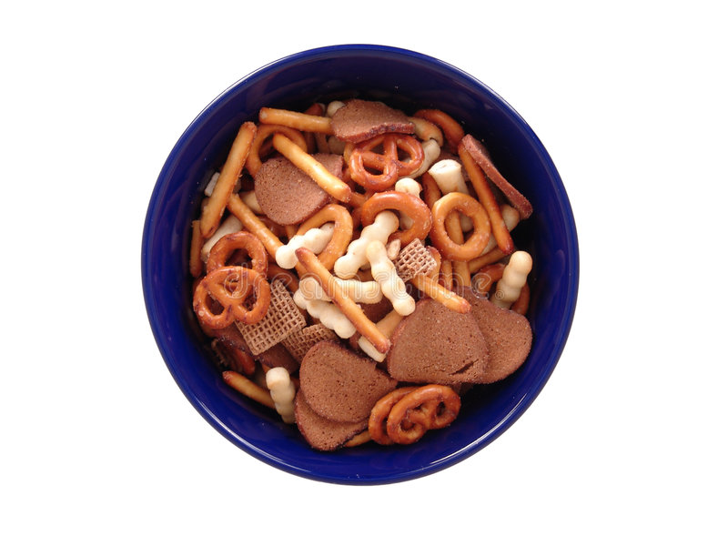 Party snack mix stock image