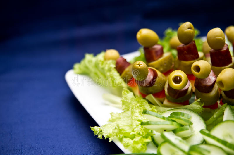 Download Party snacks stock photo. Image of table, tasty, blue - 25489368