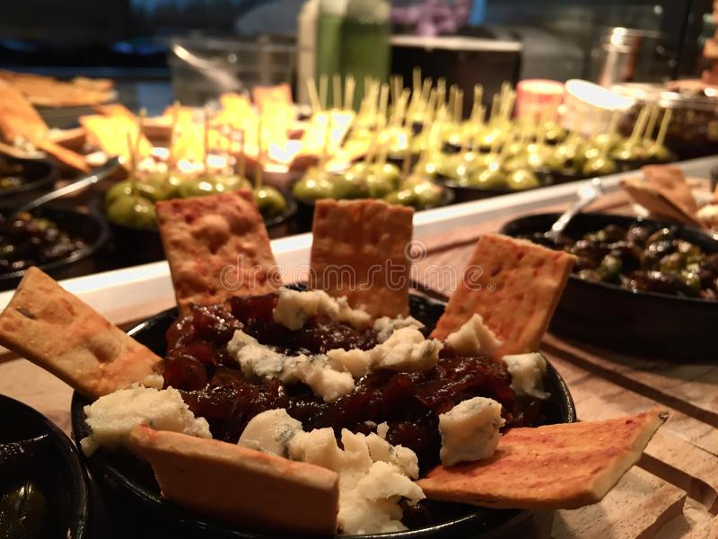 Party snacks royalty free stock image