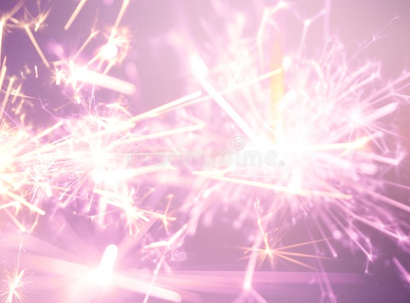 Party sparkler close up. Holiday celebration royalty free stock images