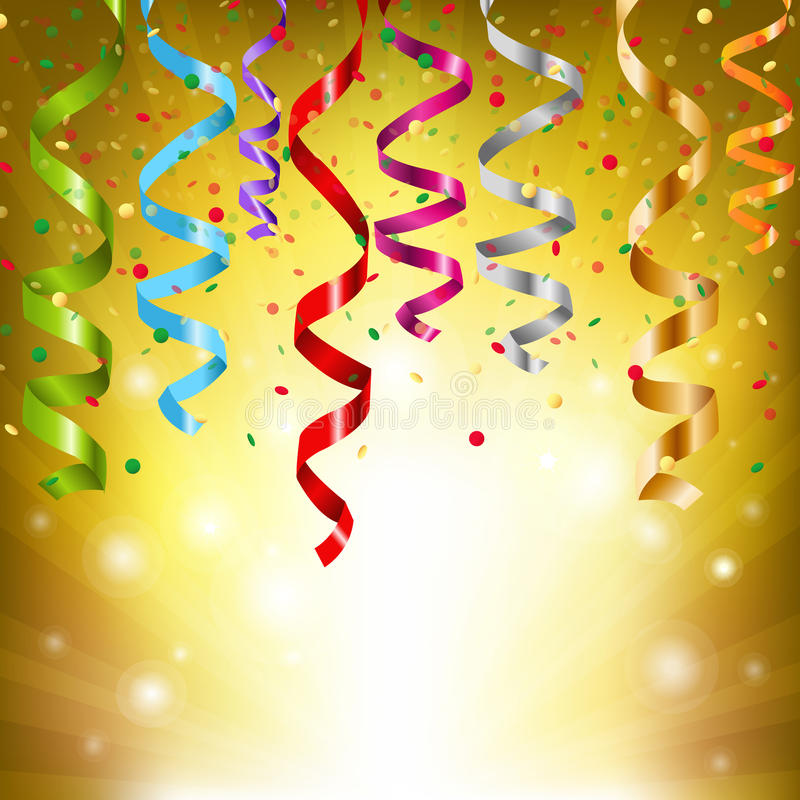 Party Streamers. Colourful Party Streamers, Vector Illustration