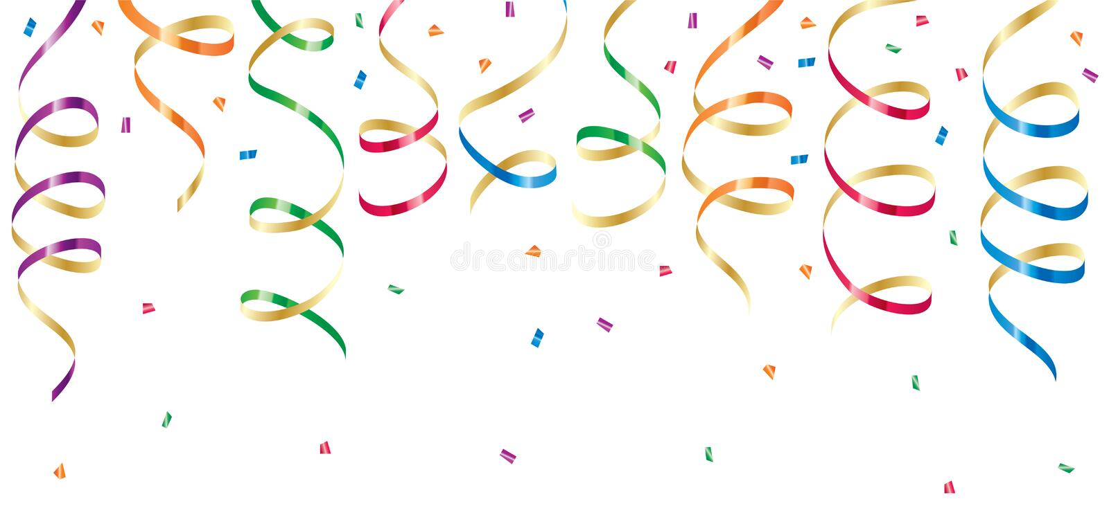 Download Party Streamers And Confetti Stock Vector - Image: 14461614