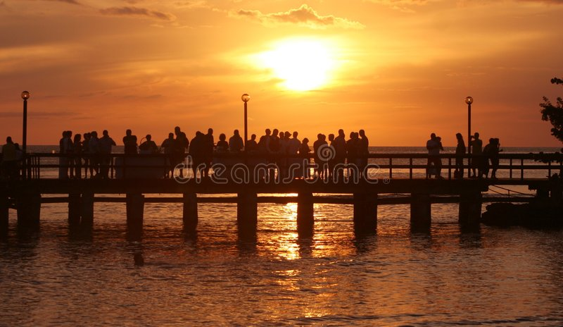 Party at Sunset royalty free stock image