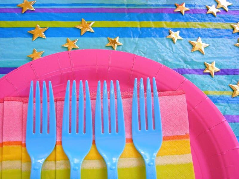 Party-Tabellen-Installation lizenzfreie stockfotos