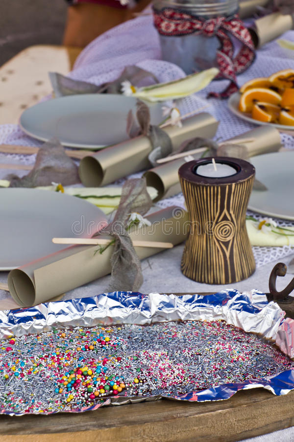 Download Party table stock photo. Image of sprinkles, dessert - 20526832