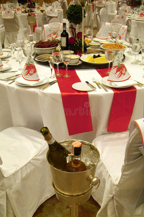 Download Party table with food stock photo. Image of aquavit, tablecloth - 1420000