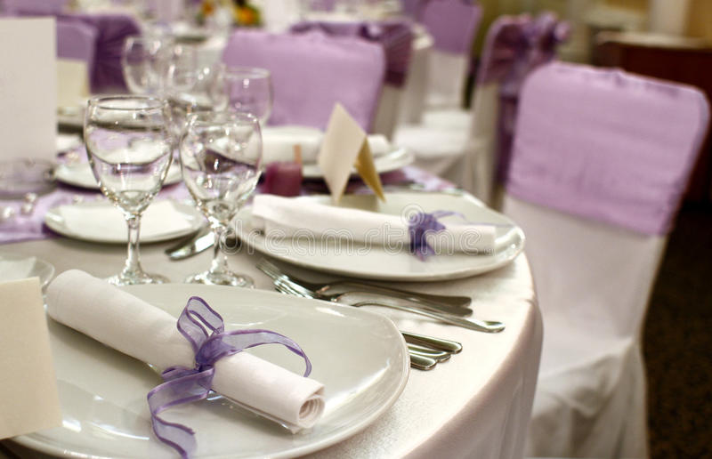 Party table setting stock image