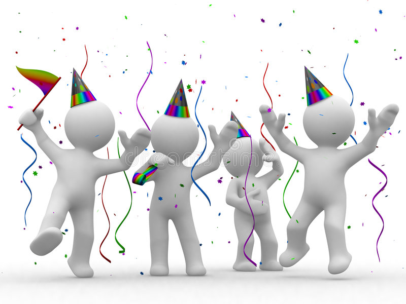 Download It is party time stock illustration. Image of celebrate - 3440370