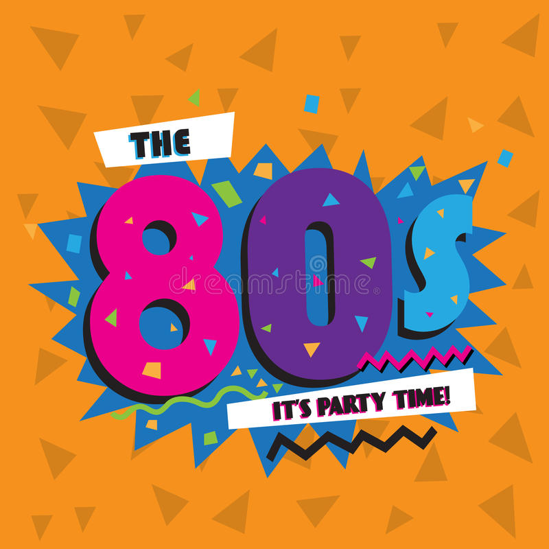 Free Party Time The 80 S Style Label. Vector Illustration. Royalty Free Stock Photo - 91008855