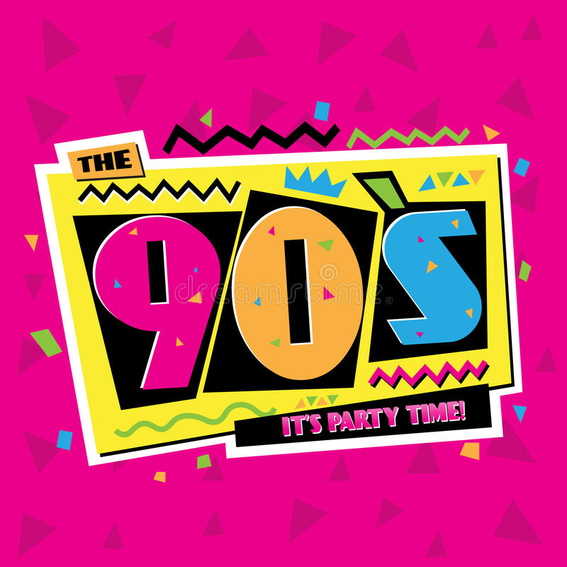 Free Party Time The 90`s Style Label. Vector Illustration. Stock Photo - 84689520