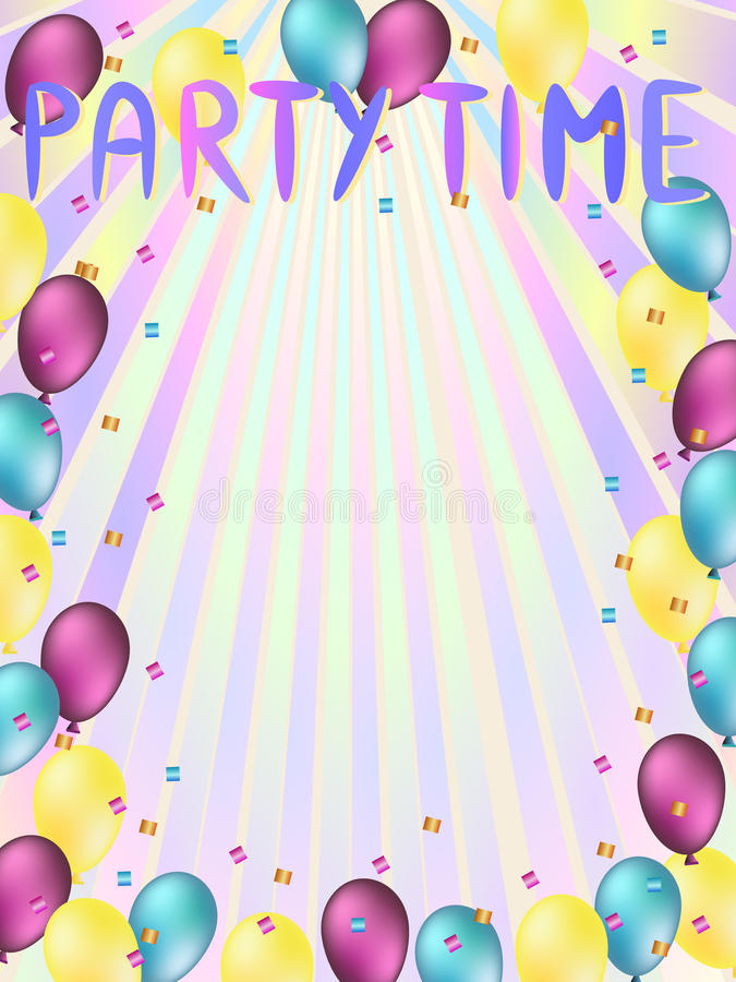 Party time words stock photo