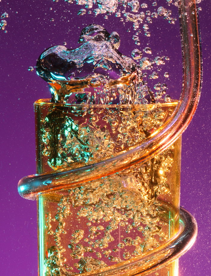 Free Party Tumbler With Airbubbles Stock Photography - 8451832