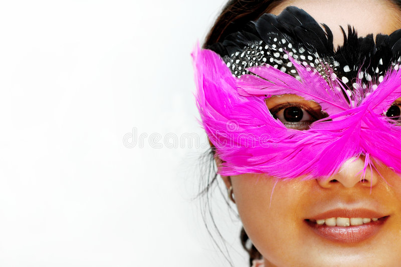 Party women. Women wearing mask (party series - close up face