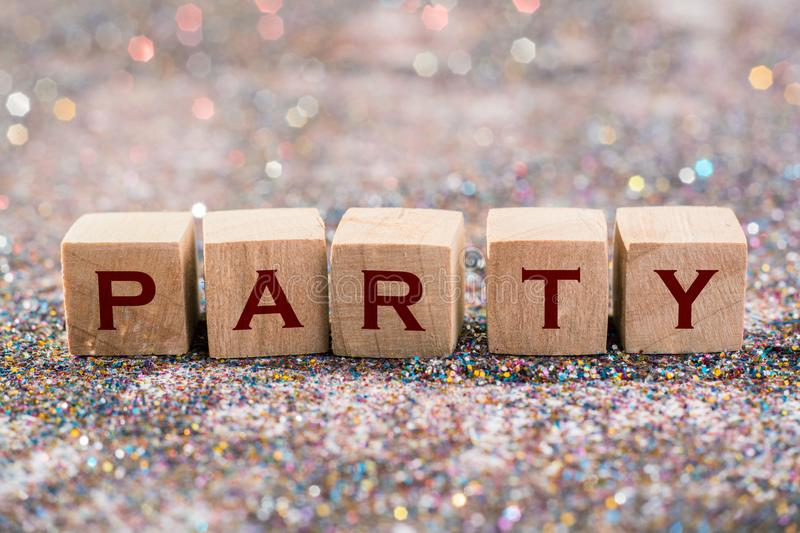 Party word royalty free stock photo