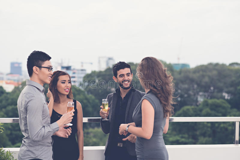 At the party royalty free stock image