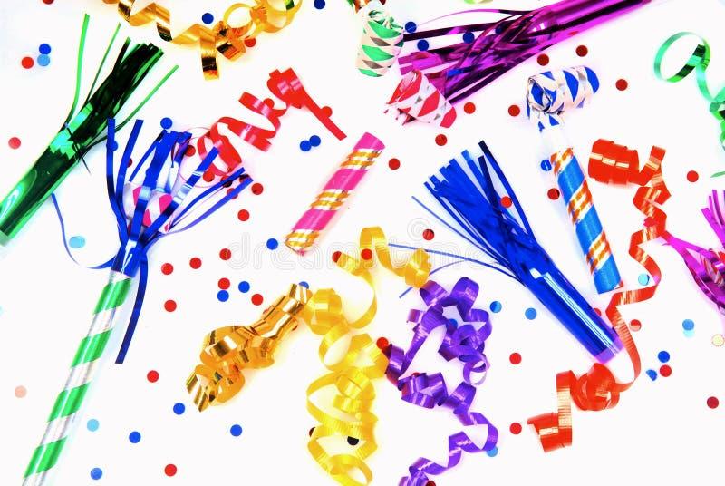 Partybevorzugungen für das Feiern stockfotografie