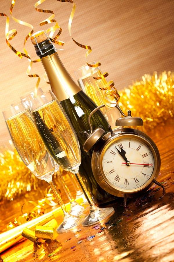 Partydekoration - Tag des neuen Jahres stockbilder