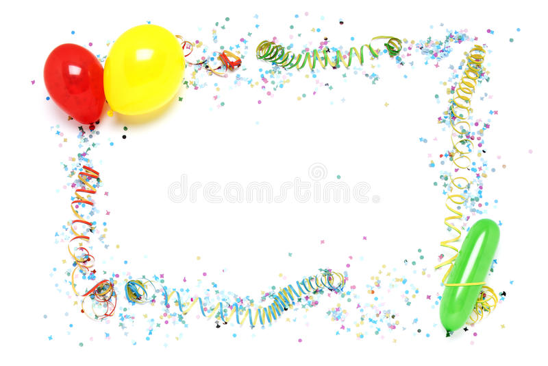 Partydekorationfeld stockbild