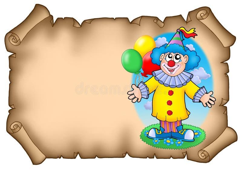 Partyeinladung mit Clown stock abbildung