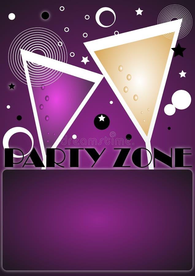 Partyeinladungshintergrund - Vektor lizenzfreie abbildung