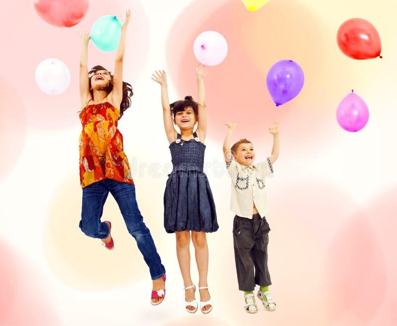 partying детей стоковые фото