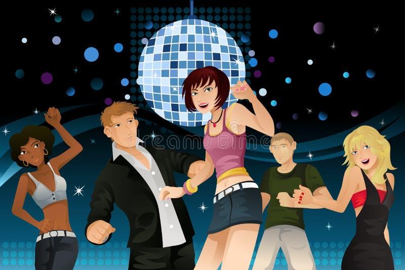 Partying des jeunes illustration libre de droits