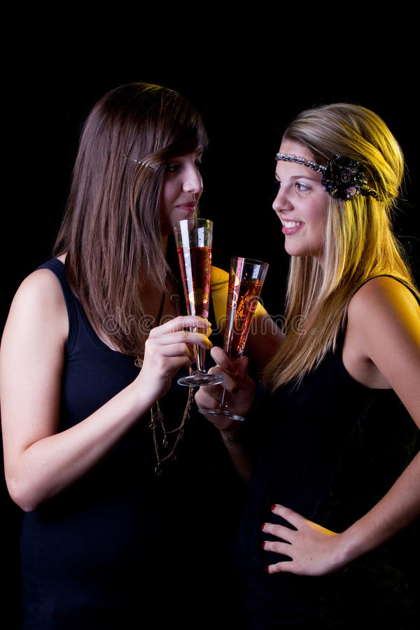 Download Partying girls stock photo. Image of female, black, cute - 16385044