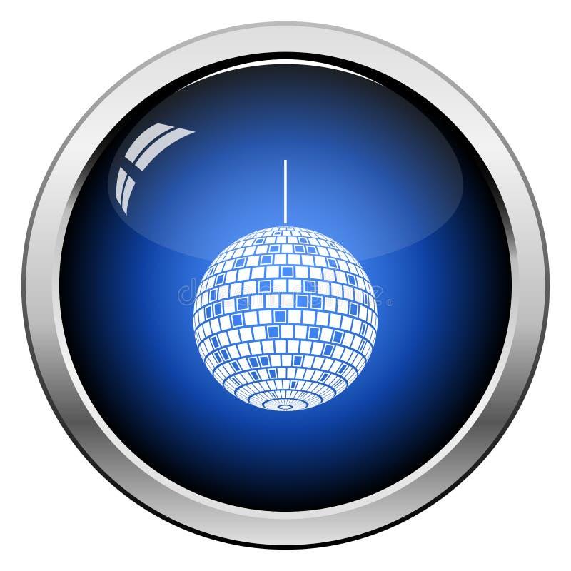Partyjna dyskoteki sfery ikona ilustracji