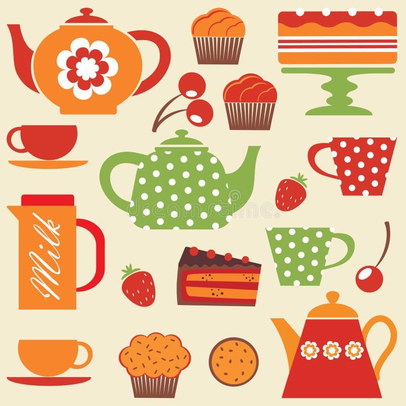 partyjna herbata ilustracji