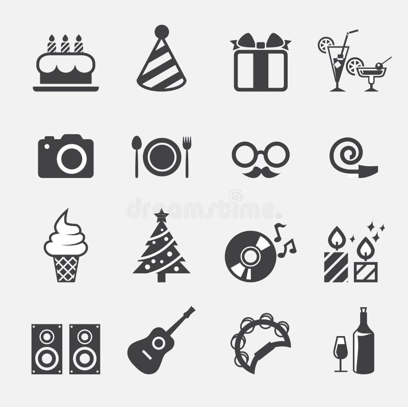 Partyjna ikona 2 royalty ilustracja