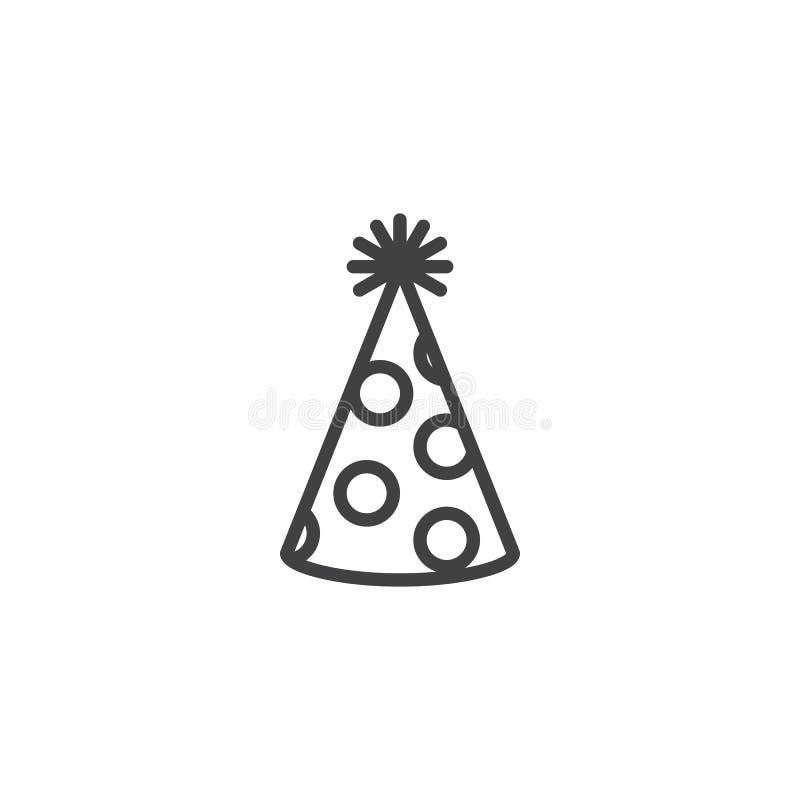 Partyjna kapeluszowa kontur ikona ilustracja wektor