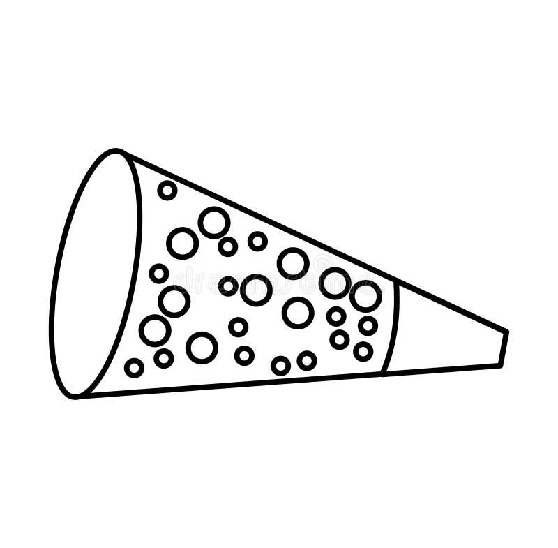 Partyjnego kornetu odosobniona ikona royalty ilustracja