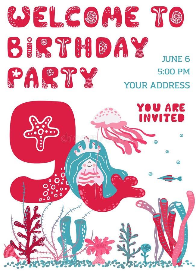 Partyjnego zaproszenia Urodzinowa karta royalty ilustracja