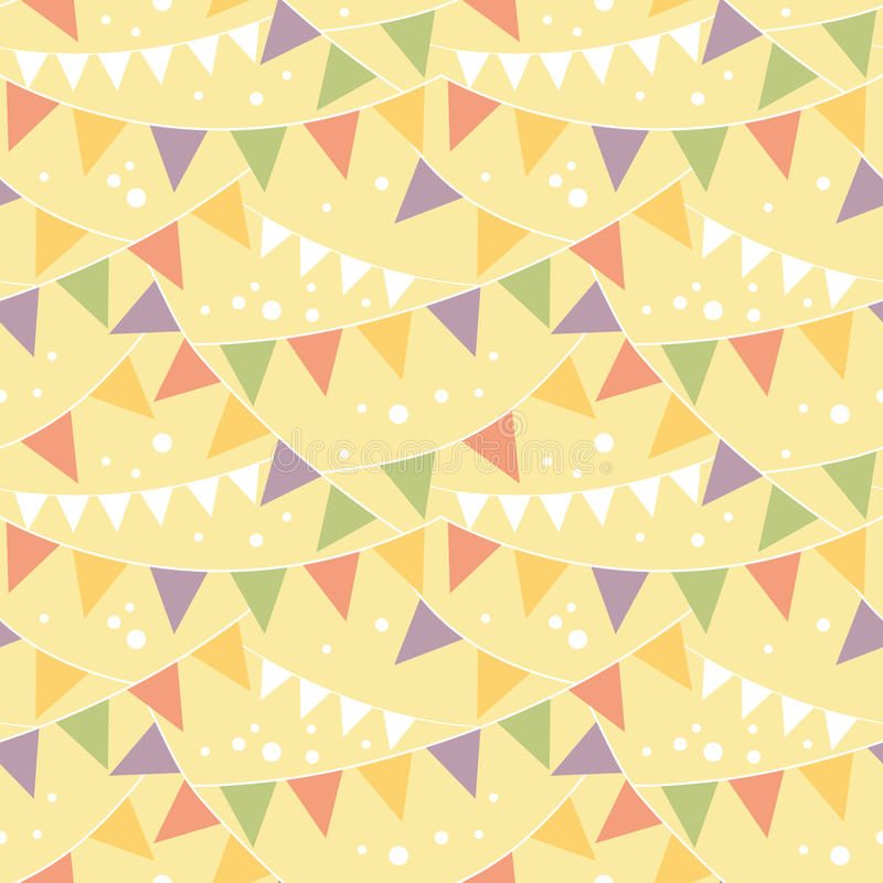 Partyjnej dekoraci chorągiewki Bezszwowy wzór ilustracji