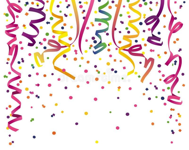 partyjni confetti streamers ilustracja wektor